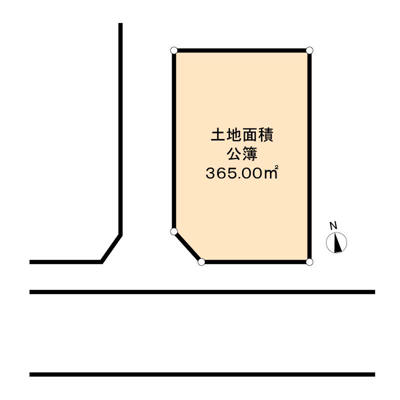 大きな角地の画像