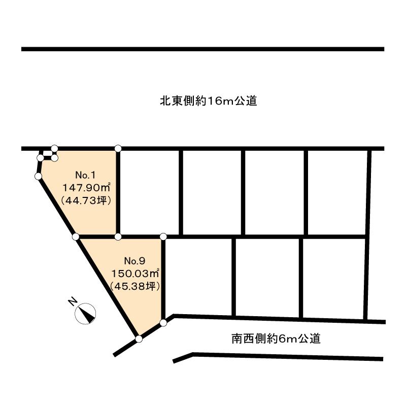 我家は南口を真っすぐ⇒左⇒右の画像