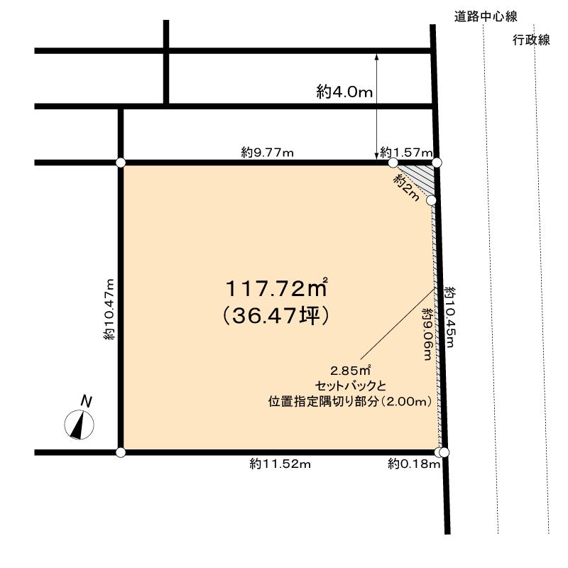 JR10分圏内の住宅街の画像